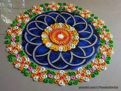 Beautiful and unique Rangoli - Design Innovative Rangoli designs by Poonam Borka . Easy Rangoli Designs Diwali, Rangoli Simple, Free Hand Rangoli Design, Colorful Rangoli Designs, Rangoli Ideas, Rangoli Designs Images, Diwali Rangoli, Beautiful Rangoli Designs, Indian Rangoli