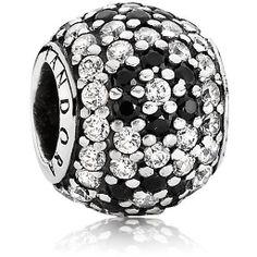 Pave Shimmering Blossom w-Black Crystal 791170NCK