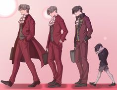 """craycat-artworks: """" Ace Attorney: Then and Now- Miles Edgeworth by CrayCat Miley has the most amazing transformation, from losing his dad, to following his dad's killer, to finding out about the truth, to being like """"Am I on the right path"""", and..."""