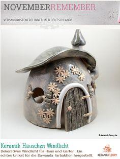 Dawanda Farbaktion NovemberRember - Keramik Häuschen