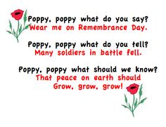 Remembrance Day Activities - Grade ONEderful