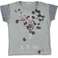 T-shirt fiori bicolor GAS - € 39,90 scontata del 10% la paghi solo € 35,91 | Nico.it
