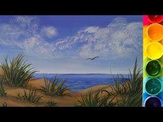 Онлайн-урок рисования гуашью для начинающих. Как нарисовать траву - YouTube