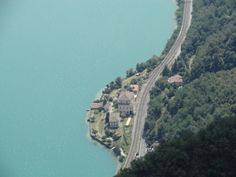 Lago Lugano (Switzerland) -- View from the top of Mt. San Salvatore - 912 meters above sea level