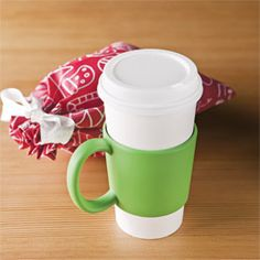 Handisleeve by Umbra cleverly designed so that it fits around disposable cups and in most automobile cupholders on sale for $2.99 exclusive to #The_Container_Store