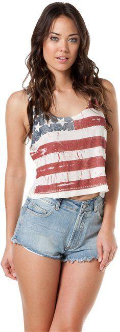 JOHN GALT BY BRANDY MELVILLE AMERICAN FLAG TANK   http://www.swell.com/JOHN-GALT-BY-BRANDY-MELVILLE-AMERICAN-FLAG-TANK?cs=WH#