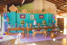 Partyscape from Colorful Princess Jasmine Birthday Party at Kara's Party Ideas. See more at karaspartyideas.com!