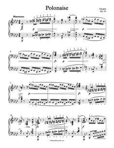 Free Piano Sheet Music – Polonaise Op. 53 – Chopin