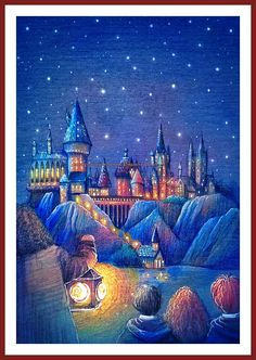 BUY 2, GET 1 FREE! Harry Potter Magic Castle 193 Cross Stitch Pattern Counted Cross Stitch Chart, Pdf Format, Instant Download /121181
