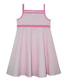 Pink Gingham Seersucker Dress - Toddler & Girls