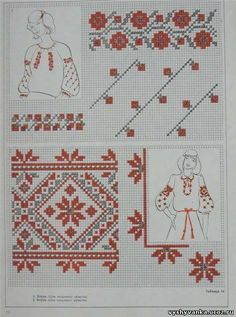 Chain Stitch Embroidery, Shirt Embroidery, Embroidery Stitches, Embroidery Patterns, Cross Stitch Borders, Cross Stitching, Cross Stitch Patterns, Palestinian Embroidery, Hungarian Embroidery