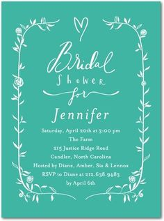 Customized bridal shower, wedding invitations and tank you cards. So cool!