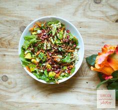 I made beautiful Sorghum & Avocado salad which was pretty sensationally  delicious! #recipes
