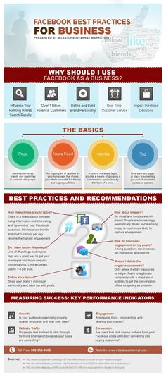 FaceBook best practices for business #infografia #infographic #socialmedia
