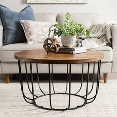 Our Brown Quintana Paris Coffee Table looks lovely in any space. Table Decor Living Room, My Living Room, Home And Living, Living Room Furniture, Home Furniture, Decor Room, Wall Decor, Black Coffee Tables, Round Coffee Table