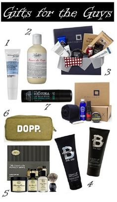 Guy gift guide, via LUXE GLOW beauty blog.