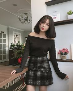 Pretty Girl of Asian - Smile Girl Beauty Ulzzang Short Hair, Korean Short Hair, Ulzzang Korean Girl, Jung So Min, Pretty Korean Girls, Cute Asian Girls, Cute Fashion, Girl Fashion, Korean Outfit Street Styles