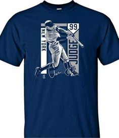 c5e0355f6 New York Yankees MLBPA AARON JUDGE #99 Color Block Men's Cotton Tee Shirt  Navy