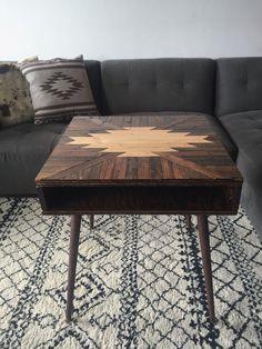 Bullhead Xvi Rustic Modern Coffee Table Native American