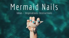: Mermaid Nails: Ideas, Instructions, and Inspirations for your Mer-Fabulous Nails! : mermaid nails : Mermaid Nails: Ideas, Instructions, and Inspirations for your Mer-Fabulous Nails! June Pictures, June Quotes, Wallpaper For Facebook, Hello June, Welcome Summer, Thanks Card, Mermaid Nails, Latin Words, Birth Flowers