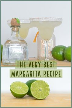 How to make the perfect Margarita! The Very Best Margarita recipe has 4 simple ingredients and is the perfect blend of sweet & sour. This recipe will make your famous for your Margarita bartending skills. Patron Margarita Recipe, Ultimate Margarita Recipe, Blended Margarita Recipe, Margarita Drink, Perfect Margarita, Margarita Recipes, Drinks Alcohol Recipes, Alcoholic Drinks, Drink Recipes