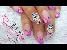 Decoración de uñas paso a paso cebra Bellisimas Nails por Maryury Jaramillo - YouTube