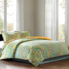 Echo Beacon's Paisley Comforter Set, Queen, Multi by ECHO, http://www.amazon.com/dp/B00DGL00PA/ref=cm_sw_r_pi_dp_mGW-rb01MVD8D