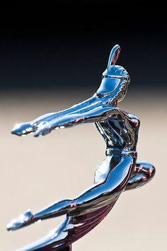 "1935 Pontiac Sedan ""Indian Maiden"" Hood Ornament 3 by Jill Reger"