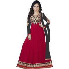 Amazing Designer Rani pink black Color  Embroidary Salvar Suit