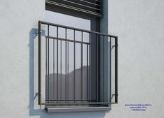 French balcony powder coated anthracite - All About Balcony Design Shop, French Balcony, Juliet Balcony, Balcony Lighting, Window Grill, Earth Homes, House Wall, Window Design, Next At Home