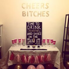 I crafted all this up for the bachelorette party of one of my best friends, Melanie! instead of buying all of this at ridiculous markup costs I invested my time instead of money by creating it all and making it specially for her :)