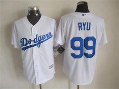 Los Angeles Dodgers #99 Hyun-Jin Ryu 2015 White Jersey