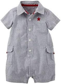 Carter's Baby Boys' of July Romper (Baby) - Navy - Newborn Baby Boy Dress, Baby Boy Outfits, Kids Outfits, Baby Boy Fashion, Kids Fashion, Baby Clothes Patterns, Kids Frocks, Carters Baby Boys, Baby Kind