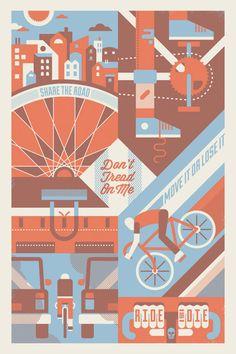 Bike to Work Day // (via bandito design co.)