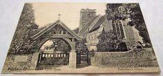 Felpham Church & Lych Gate - Bognor - Sussex - Antique Vintage Postcard c1910 Postcards, Gate, Valentines, Antiques, Ebay, Vintage, Valentine's Day Diy, Antiquities, Antique