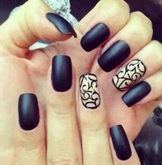 Black nails are always good от sweet_lifestyle | We Heart It