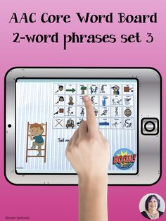 AAC users need opportunities to practice using core words both in context and out. Practice using 2 word phrases with pronouns, verbs and adjectives with engaging graphics by pointing to the symbols on the core word communication board. Speech Language Therapy, Speech And Language, Special Needs Students, Word Board, Preschool Special Education, Multiple Disabilities, Learning Disabilities, Autism Resources, Education Humor