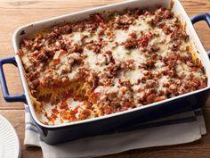 Baked Spaghetti Recipe : Paula Deen : Food Network - Dinner for tonight Star Pasta Recipe, Pasta Recipes, Beef Recipes, Dinner Recipes, Cooking Recipes, Dinner Ideas, Meal Ideas, Meatloaf Recipes, Supper Ideas