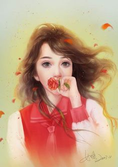 Shared by immeizuo. Find images and videos about girl, art and illustration on We Heart It - the app to get lost in what you love. Cartoon Girl Images, Cute Cartoon Pictures, Girl Cartoon, Art Anime, Anime Art Girl, Cute Drawings Tumblr, Lovely Girl Image, Painting Of Girl, Girl Paintings