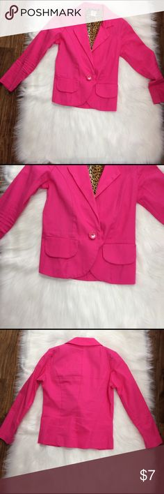 Pink Blazer Brand New - Bright Colored - No Dress Jackets & Coats Blazers