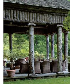 Perfection...love the ionic caps on the top of the rustic columns...fabulous!
