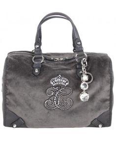 Juicy Couture Womens Grey Steffy Velour Barrel Bag Barrel Bag, Designer Clothes For Men, Uk Shop, Juicy Couture, Purses And Bags, Shoulder Bag, Grey, Closet, Shopping