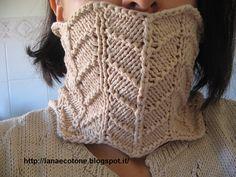 """Lana e Cotone (maglia e uncinetto): #Collo """"Stella"""" #cowl #pattern"""