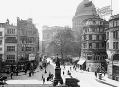 London, Cheapside c.1905. At the junction with Paternoster Row, Cheapside swings from the north in an arc and heads east towards the Bank. Paternoster Row, on the right, was once a fashionable shopping street patronised by Pepys and his wife. From The Francis Frith Collection, a privately-owned archive of over 130,000 photographs of Britain from 1860-1970 that you can browse online for free anytime. #francisfrith #photography #nostalgia