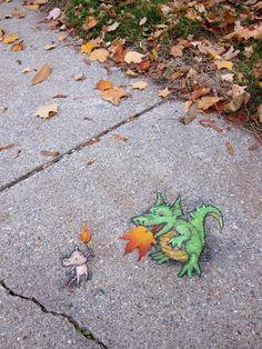 Sluggo est dans la rue sluggo rue street art craie 08
