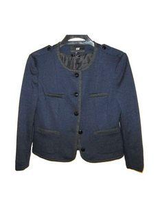 Blazer azul marino bordes oscuros de H&M