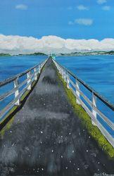 Gone Fishing acrylic on canvas 76cm x 51cm