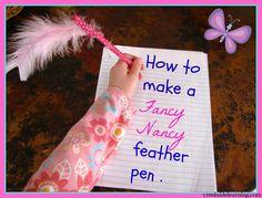 Handwriting Tips & Tricks:  Make a feather pan like Fancy Nancy.