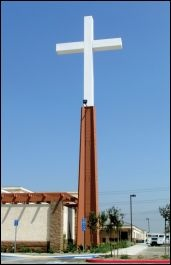 A church can also cover their Cell Phone tower with a nice Cross. Awesome.