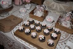 Mini Cupcakes, pink candy bar by Weddings With Love